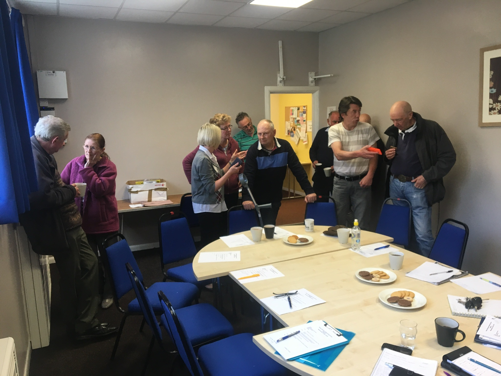 Members of DCC Allotment Forum networking